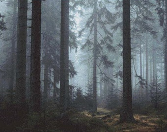 Misty Forest PDF Cross Stitch Pattern