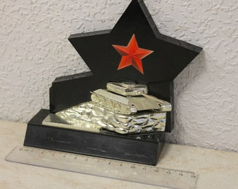 Vintage souvenir tank USSR Russia  in honor of the Soviet Army