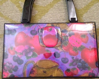 Angela Frascone Purple and Red Resin Purse