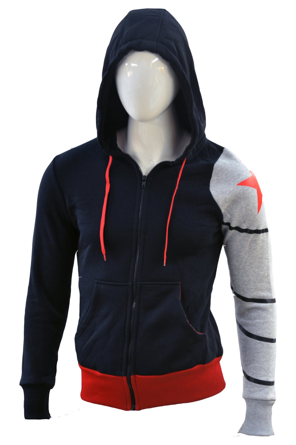 Hoodie Winter soldier by WildThingsShop on Etsy