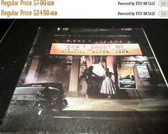 Save 30% Today Vintage 1973 LP Record Elton John Don't Shoot Me I'm Only The Piano Player Very Good Condition 2001