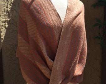 Earthy Clay Silk Poncho