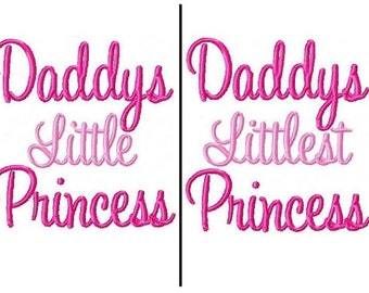 Daddys Princess Embroidery Design 4x4 -INSTANT DOWNLOAD-