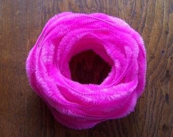 "SALE! Vintage 3"" Bump Chenille Hot Pink NOS Craft Supply"