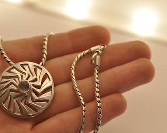 Solar disk (silver)