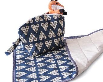 Small diaper bag and changing mat set - small nappy bag and chganging mat