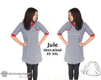 Jule *** eBook PDF file for shirt & dress Gr. XS-XXL with sewing patterns even beginners won't Design of firstloungeberlin.com