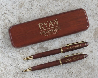 Personalized Wedding Gift Set with  Pen, Pencil, and Letter Opener Product Choices and Font Selection