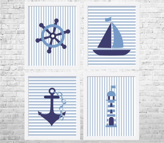 Boys Bedroom Decor Nautical Nursery Decor Nautical Art Baby - cheap home decor for nautical nursery
