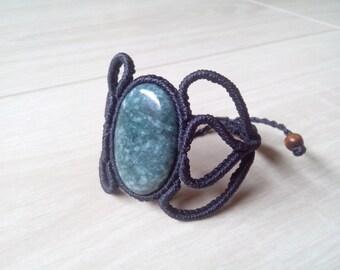 Jade bracelet set with macrame