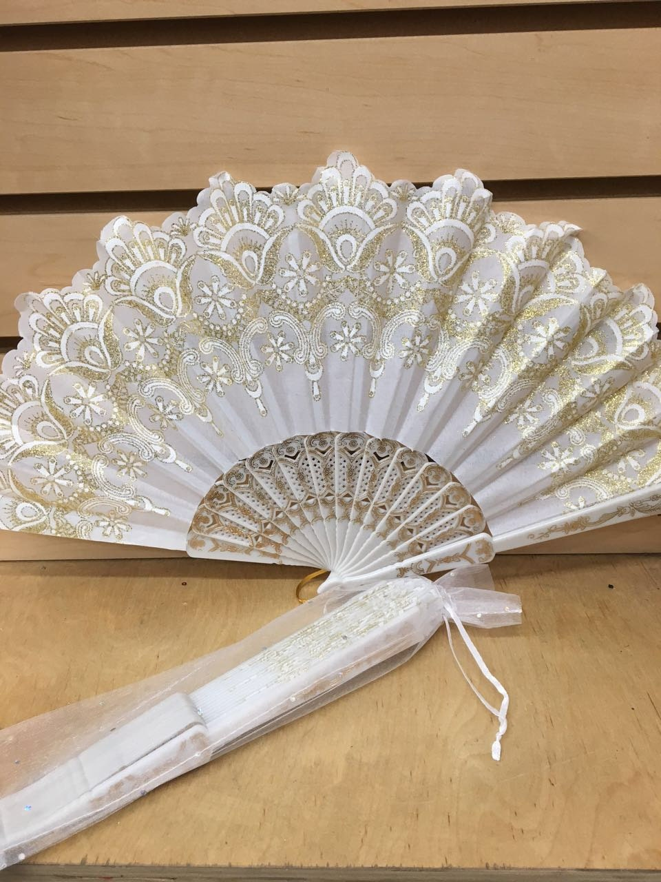 12 Sparkle Organza Bag For Hand Fan Wedding Party Favor