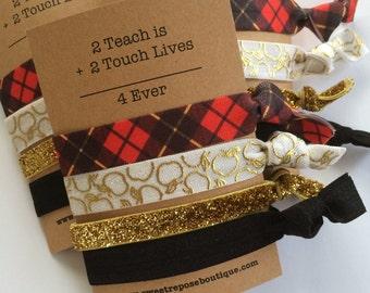 Teacher gift, Teacher christmas gift, Teacher gifts, gift for teacher, christmas hair ties,  secret santa gift, christmas card