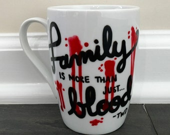 Family is more than just Blood Mug - The Walking Dead/Zombie/Friends/Bloody