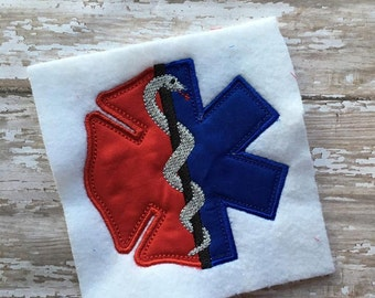 Fire EMS Combined Applique  - 4 Sizes Included - DIGITAL Embroidery DESIGN