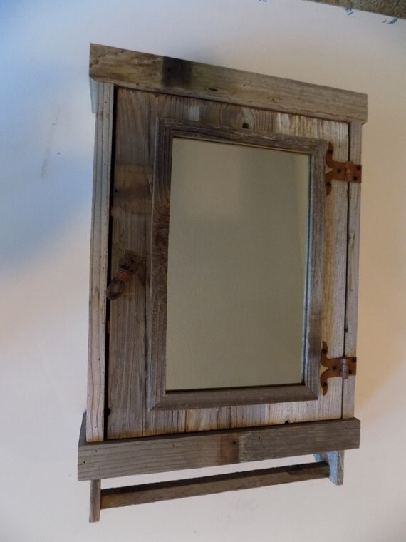 Rustic Reclaimed Medicine Cabinet With Mirror Shabby