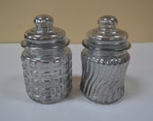 Ornate Vanity Jar, Mercury Glass Jars, Mothers Day, Lidded Jars, Glass Container, Metallic Glass, Silver in Color, Decorative Jars, Storage