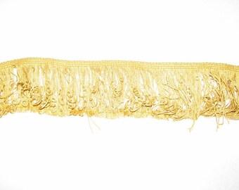 Vintage Antique Gold Fringe Trim Half Yard