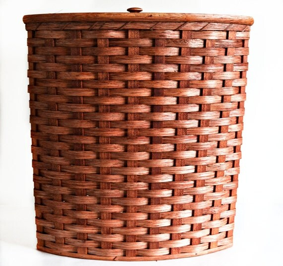 Amish Handmade Large Corner Hamper Basket W Fitted By Amishbaskets