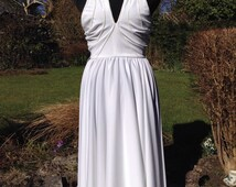 Vintage White Marilyn Monroe style Dress XS - After Six - Ronald Joyce - Sequin Trim - Evening - Party - Seventies - Disco -Free UK Postage