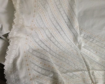 Eyelet Embroidered Bed and Pillow Covers
