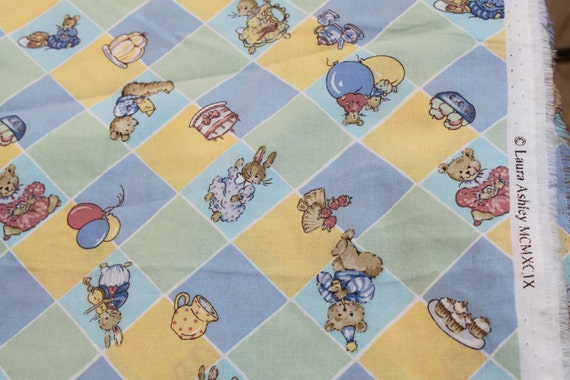Laura ashley children 39 s cute animal design cotton by for Childrens animal fabric