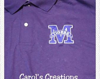 School Mascot Polo Spirit Shirt,school mascot,high school mascot,teacher shirt,student shirt,school mascot shirt,school uniform shirt