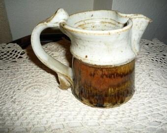 Brown Pottery Creamer