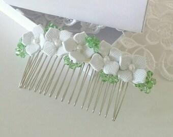 Hydrangea hair comb Bridal Bridesmaids hair accessory Flower for hair