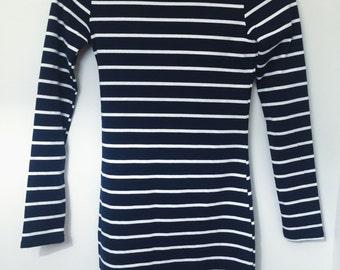 Navy & White Stripe Dress