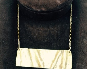 Brass Fold-Forming Necklace