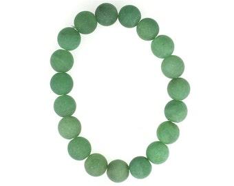 10mm Stretchy Matte Adventurine, 10mm Round Matte Adventurine, Elastic Matte Adventurine Bracelet, Natural Adventurine Beads, Wholesale