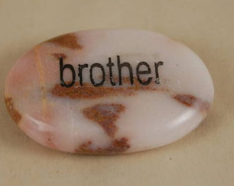 Engraved Marble Word Stone - Brother