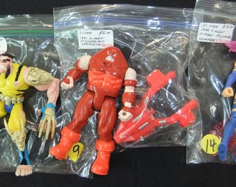 Vintage X-Men Action Figures (3) 1990's X-Men Wolverine - X-Men Juggernaut - X-Men Classic Psylocke