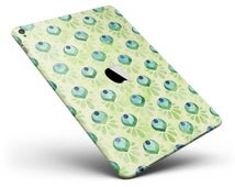Green Watercolor Peacock Feathers Full Body Skin Decal for the Apple iPad Pro, Air or Mini (All Models Available)