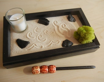 Mini-02 Mini Zen Garden with Candle - DIY Kit