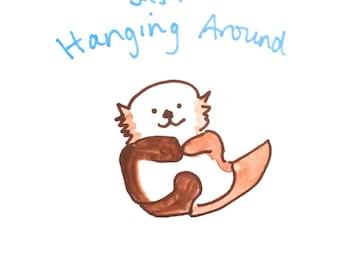 Cartoon Otter Etsy