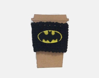 Batman Inspired Coffee Cozy