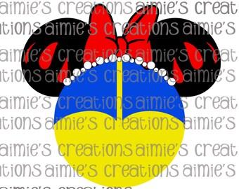 Snow White Inspired Digital Mouse Ears