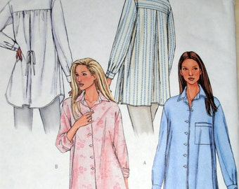 Womens Button Up Shirt Sewing pattern, Butterick 4231 Sewing pattern, Size 14-18, Blouses and tops,  Women shirt pattern,  Epsteam