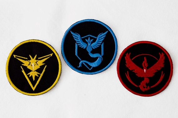 Pokemon Go Team Iron On Patches