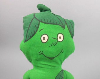 Green Giant Cloth Sprout Doll Jolly Green Giant Fabric Doll