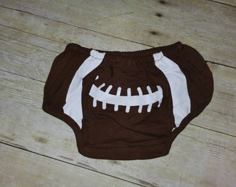 Football Diaper cover with matching legwarmers