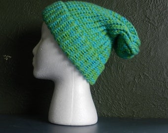 Blue-Green Slouchy Hat