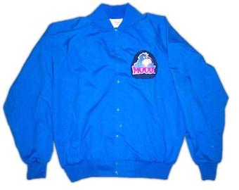 Eeyore Donkey Winnie the PoohBlue Purple Moody Customized Varsity College Long Sleeve Jacket