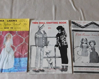 3 Vintage Petite Fashion Festival Patterns for Dolls