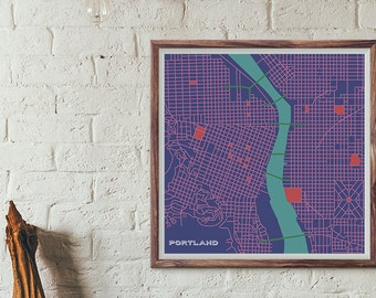 PDX Carpet Edition - Portland Vintage Map print