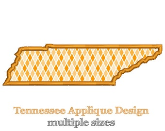 TENNESSEE - Applique Design - Machine Embroidery - Multiple Sizes - Instant Download