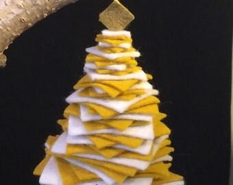 Felted Wool Christmas Tree Ornament