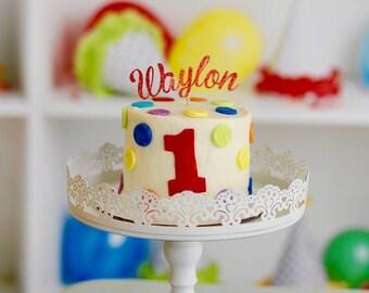 Name Cake Topper, smash cake topper, cake topper