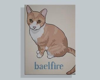 Custom Cat Portrait, 'Simplified' Style (Baelfire)